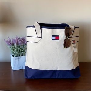 NWT! Tommy Hilfiger Canvas Tote Bag